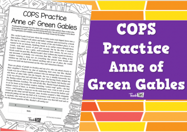 COPS Practice - Anne of Green Gables