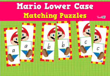 Mario Lower Case Matching Puzzles