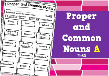 Proper and Common Nouns A