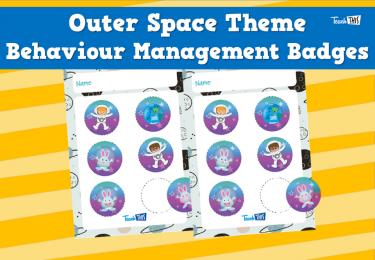Outer Space  Theme Behaviour Management Badges