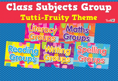 Class Subjects Group - Tutti-Fruity Theme