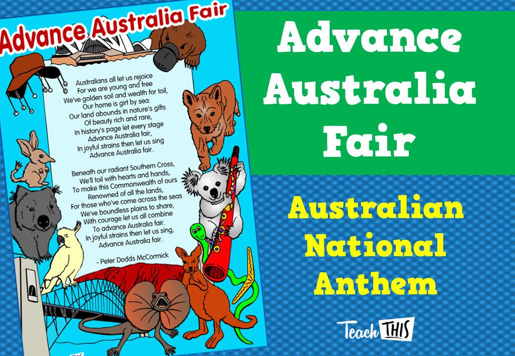 advance australia fair - colour