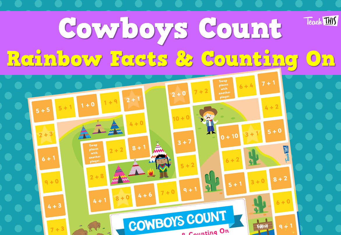 Cowboys Count - Rainbow Facts & Counting On