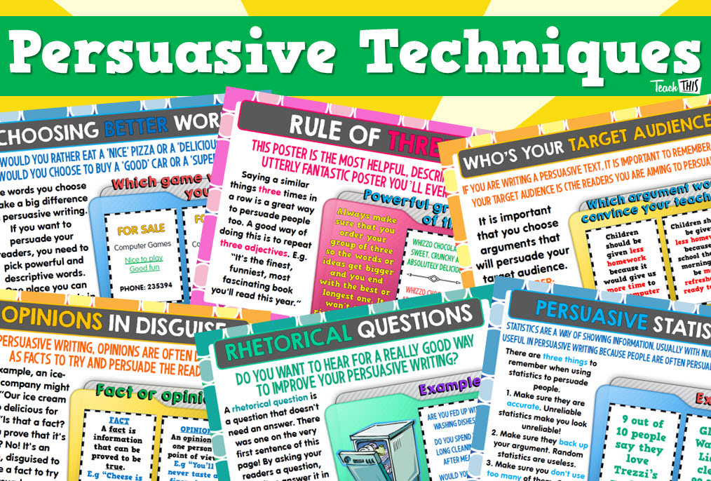 Persuasive writing resources for teachers