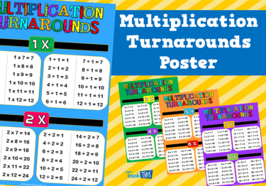 Multiplication Turnarounds Poster